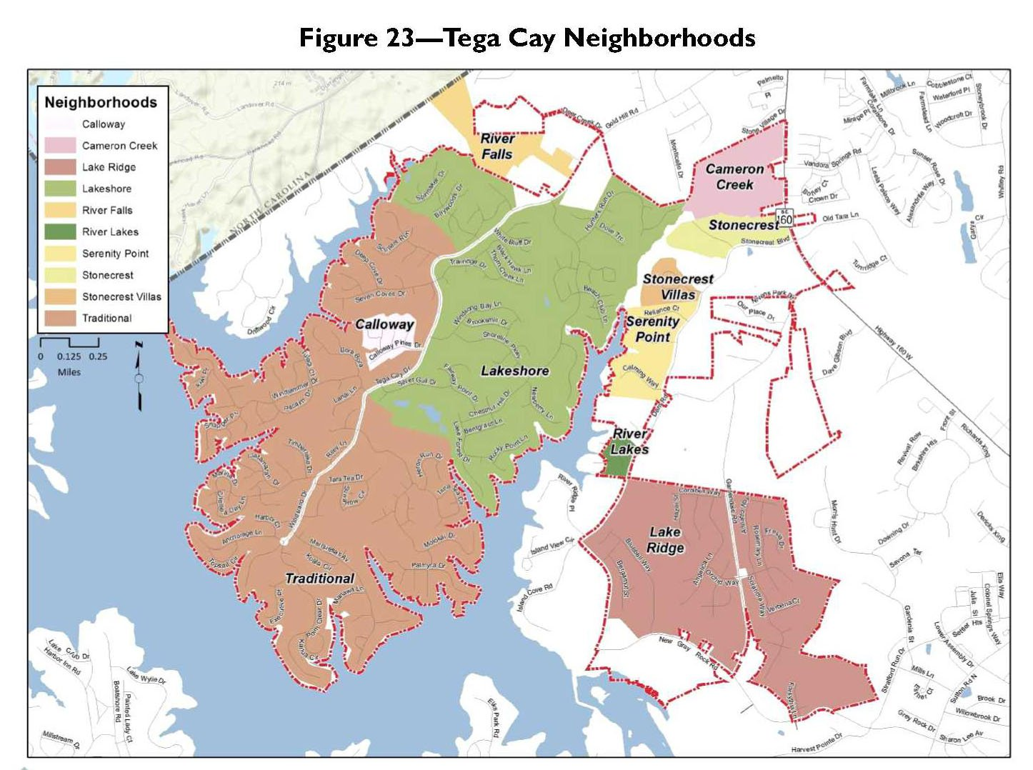 Tega-Cay-Neighborhoods-Map