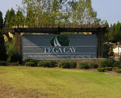 Tega Cay Entry Sign