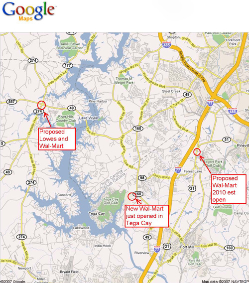 More Wal-Mart's Planned for Fort Mill and Lake Wylie?