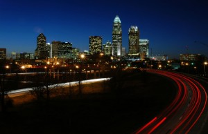 Night picture of Downtown Charlotte