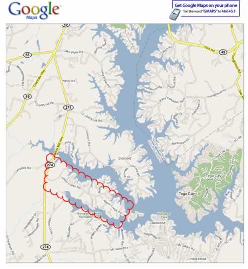 Big Allsion Creek Map
