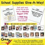 Fort Mill School Supplies Give-A-Way At Century 21® First Choice