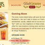 Rumor Confirmed, McAlister's Deli Will Open In Baxter Village