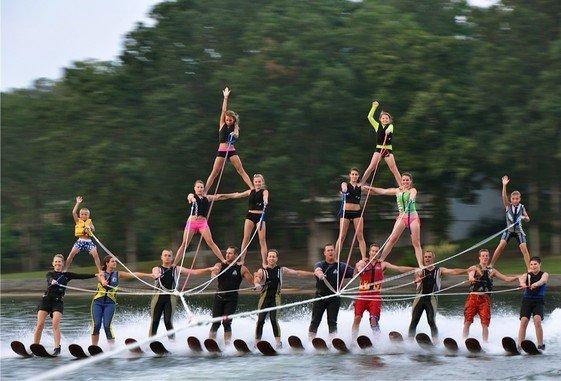 Carolina Show Ski Team Pyramid