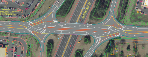 GoldHill Rd I-77 Interchnage proposed Crossover close up