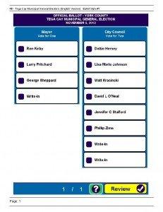 Make Sure You Vote On Nov 5th 2013 In Tega Cay