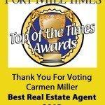 Carmen Miller Wins Best Real Estate Agent 2013