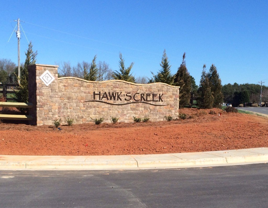 Hawks Creek Entry Wall