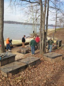 Carolina Show Ski Team Builds Their Dock