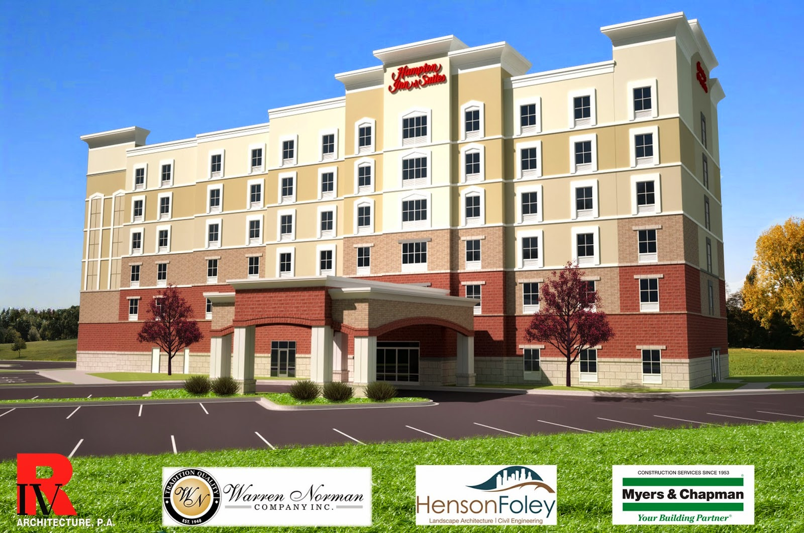 a new hampton inn is under construction in fort mill. Black Bedroom Furniture Sets. Home Design Ideas
