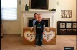 Twins Gender Reveal Video