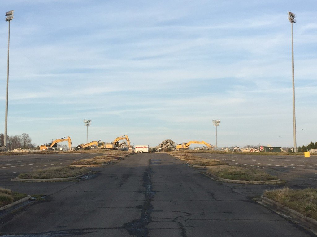 Knights Stadium Gone