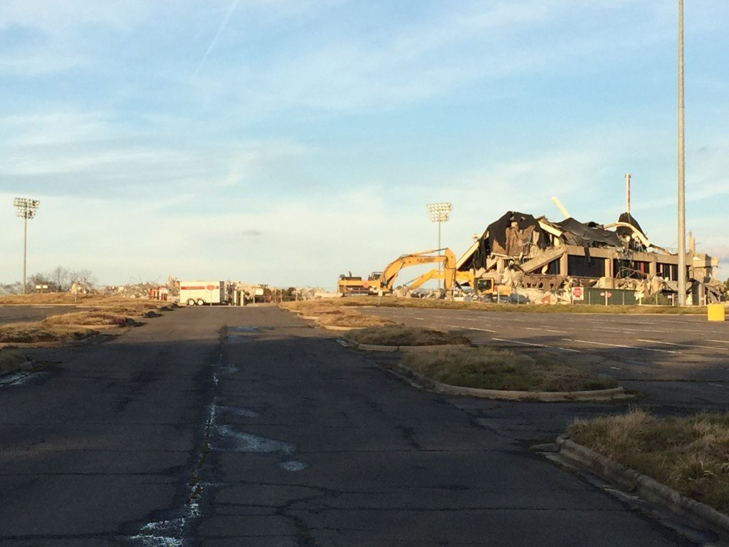 Knights stadium almost gone