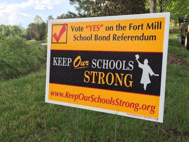 Fort Mill Bond Referendum May 5 2015 sign