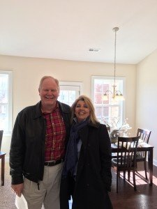 Felicia of LiveWell Homes and Bob Katz of Keller Williams and A Bum's Rum Cake had a great time at the Open House!