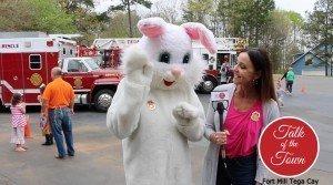 Easter Bunny in Tega Cay