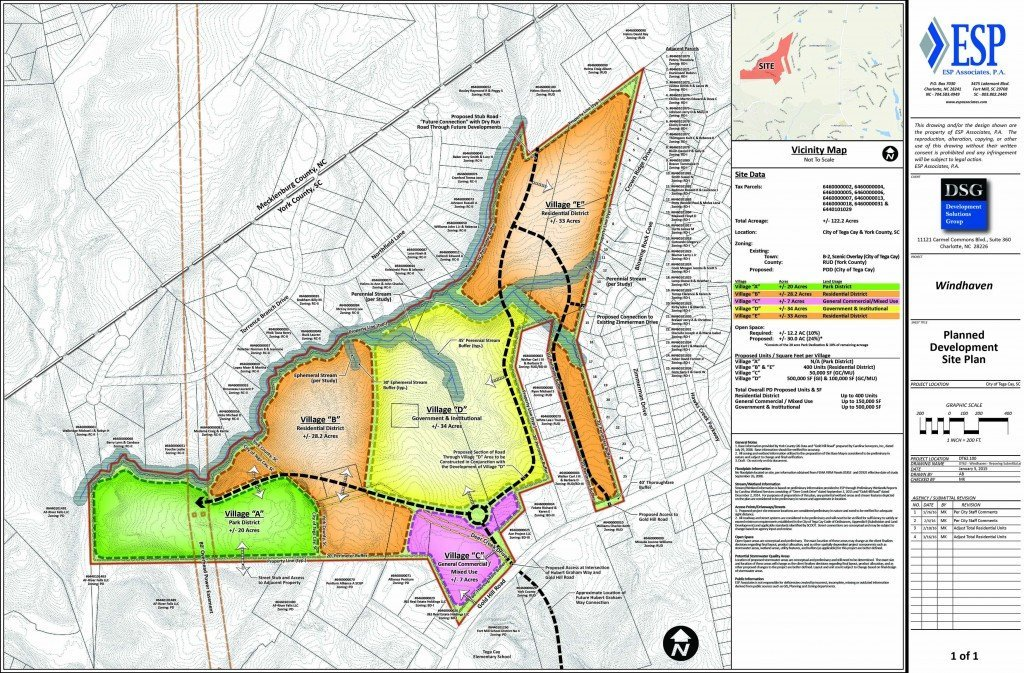 Windhaven Tega Cay Map