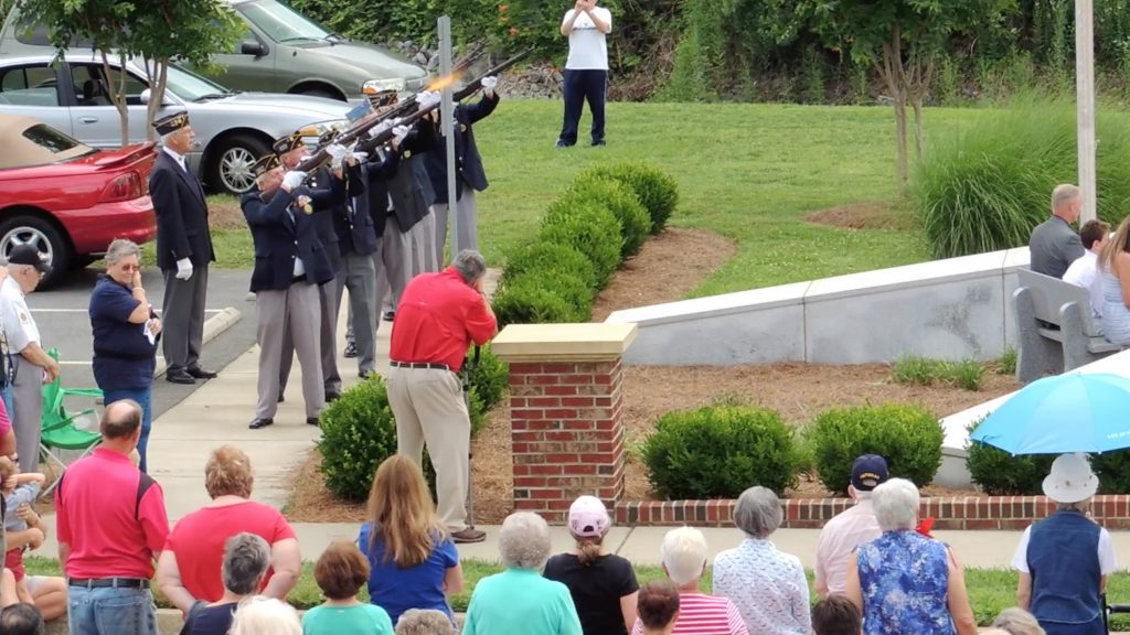 Fort Mill memorial Day Ceremony gun salute