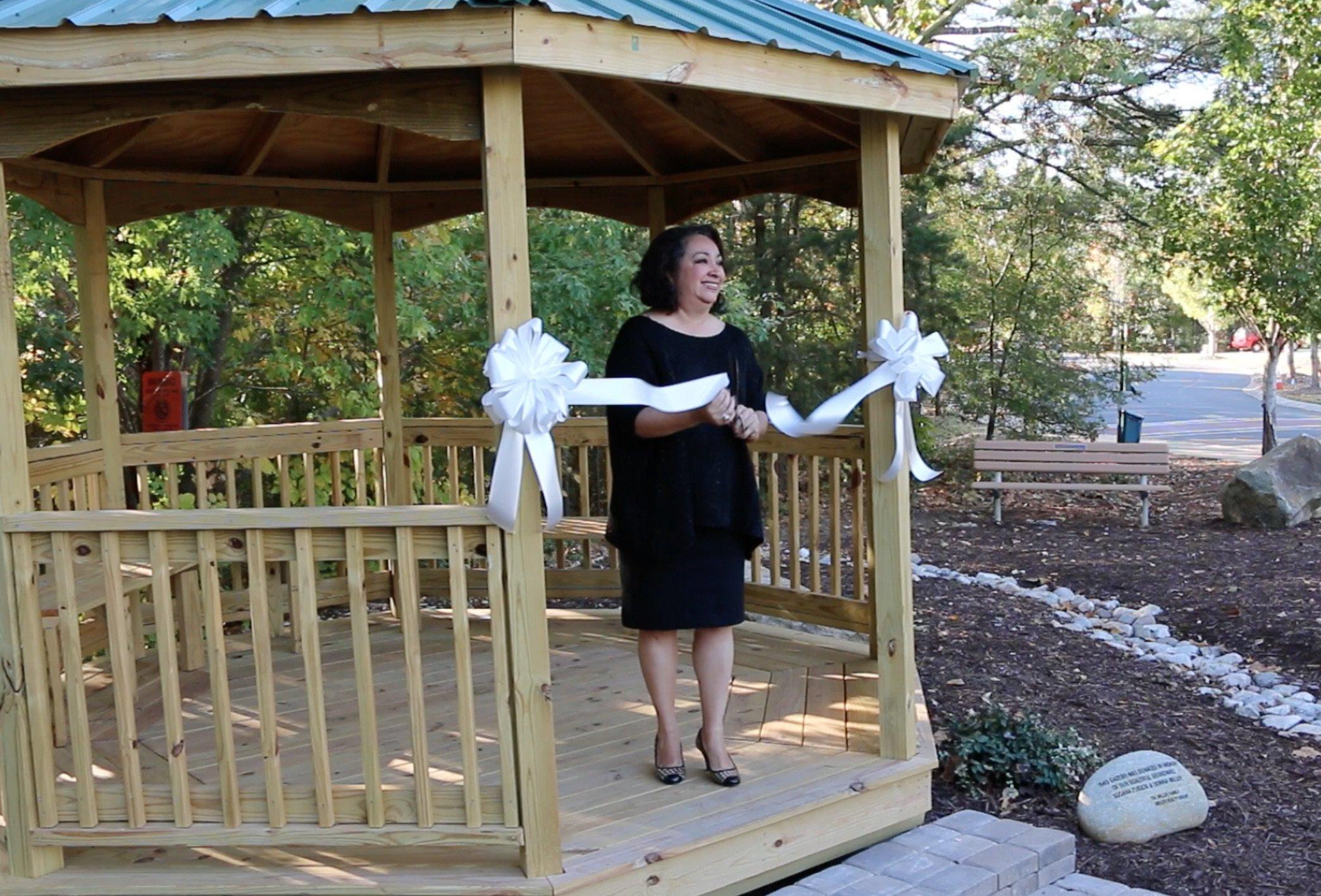 tega cay living memorial gardens story and gazebo dedication