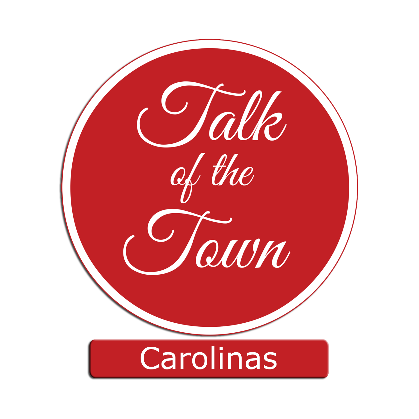 Talk of the Town Logo Round carolinas red box below