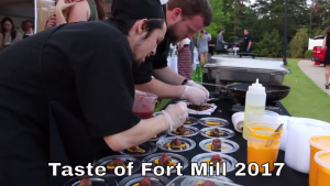 Taste Of Fort Mill 2017 Chefs Plating Food