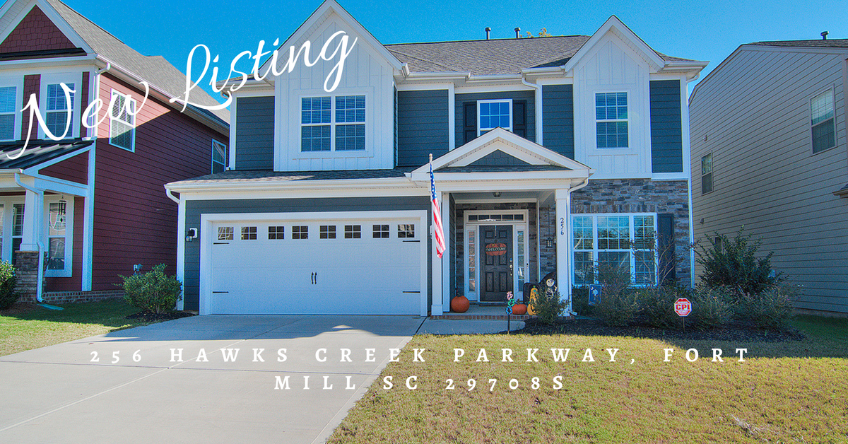 Just Listed ~ 256 Hawks Creek Parkway, Fort Mill SC 29708 ~ $339,900