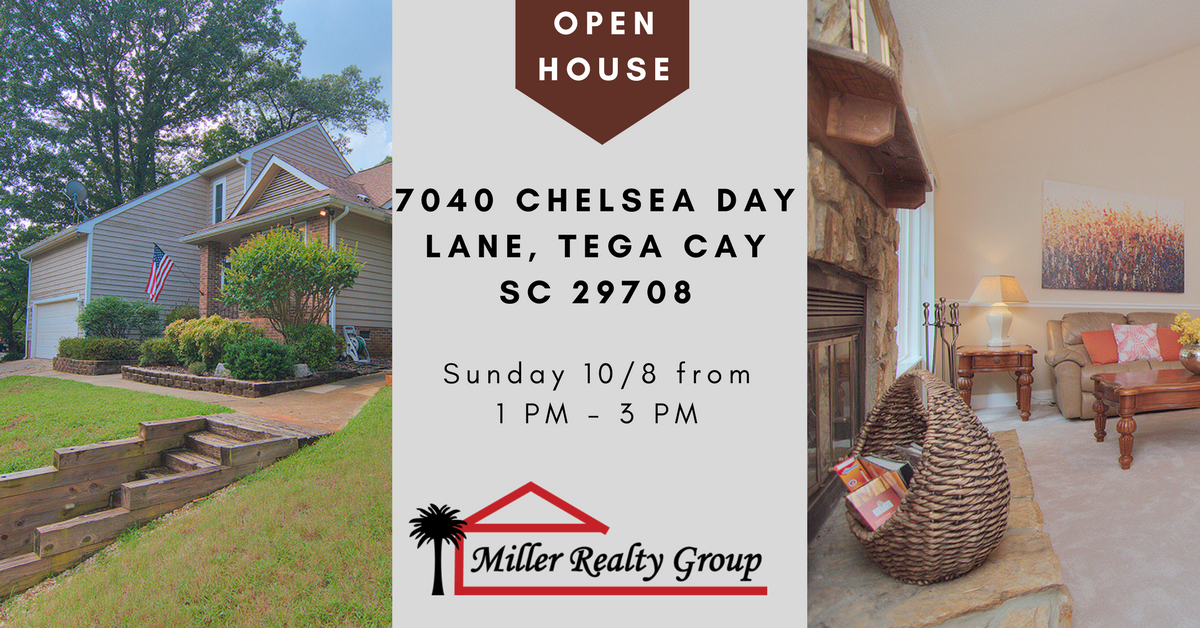 Open House ~ Sunday 10/8 From 1 PM – 3 PM ~	7040 Chelsea Day Lane, Tega Cay SC 29708
