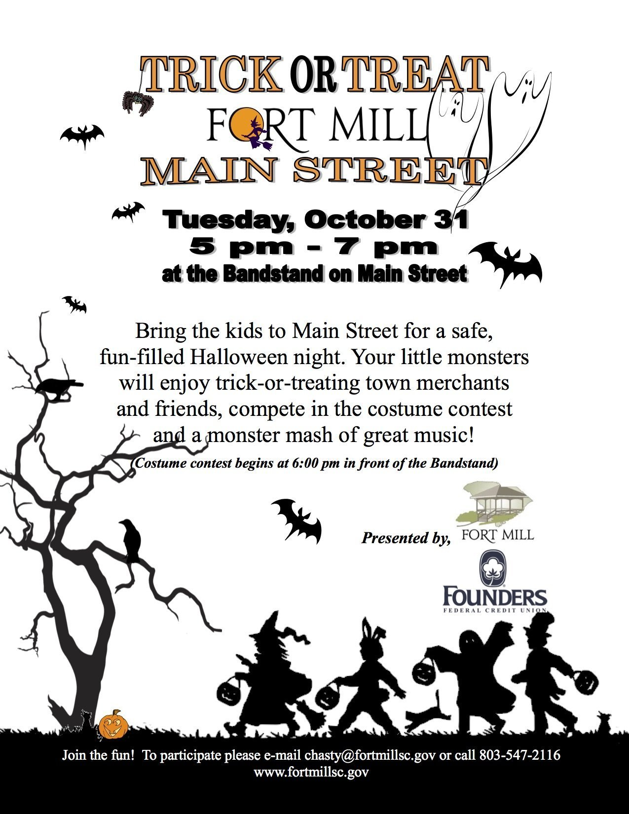 Trick-or-Treat on Main Street Tuesday, October 31st 5PM – 7PM