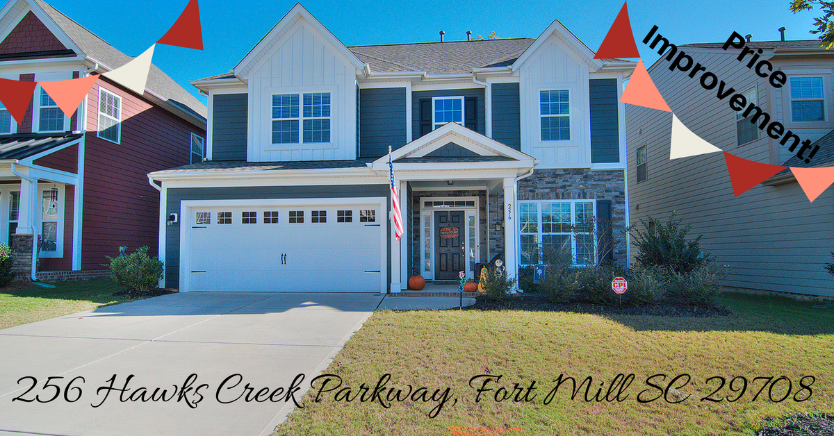 Price Improvement! 256 Hawks Creek Parkway, Fort Mill SC 29708 is now $329,000