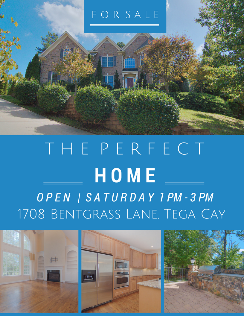 Open House at 1708 Bentgrass Lane, Tega Cay SC 29708  ~ Saturday 11/4 From 1 PM – 3 PM