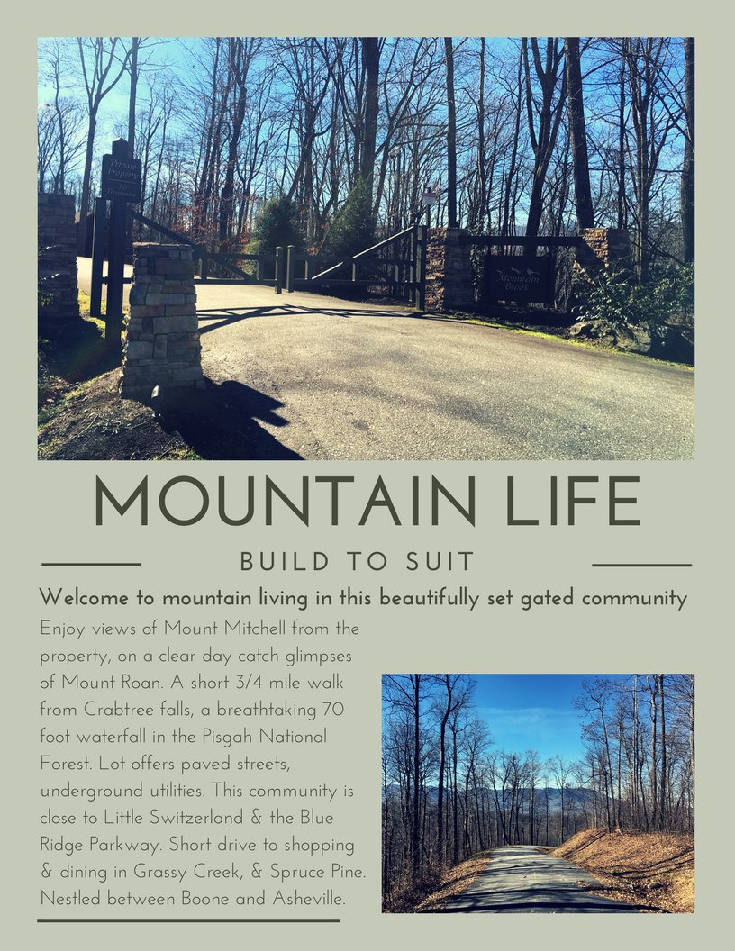 LOT FOR SALE ~ 98 ADDERFLY COURT LITTLE SWITZERLAND, NC 28749
