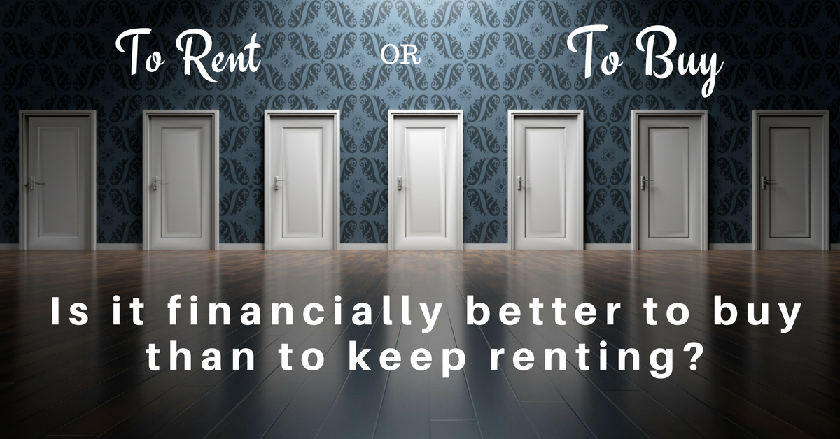 What proof exists that owning is financially better than renting?