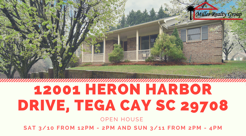 Just Listed!!!! 12001 Heron Harbor Drive, Tega Cay SC 29708 ~ Open House SAT, 3/10 From 12PM – 4PM