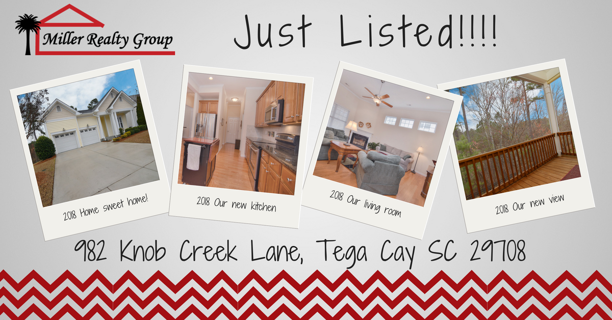 Hot New Listing! 982 Knob Creek Lane, Tega Cay SC 29708 ~ $360,000