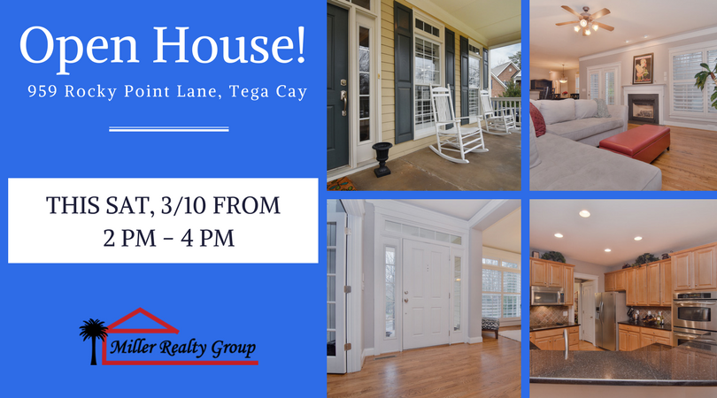 OPEN HOUSE!!! Sat, 3/10 From 2 PM – 4 PM ~ 959 Rocky Point Lane, Tega Cay SC 29708