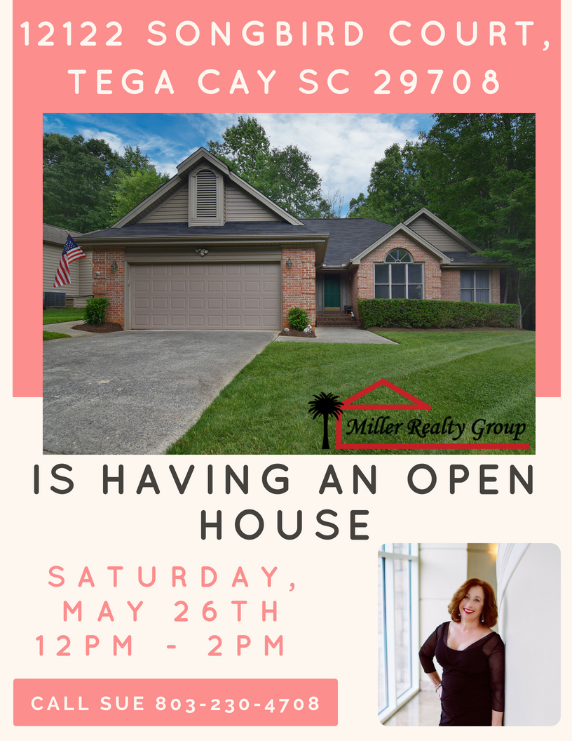 Hot New Listing ~ 12122 Songbird Court, Tega Cay SC 29708 ~ Open House Sat, May 26th from 12PM – 2PM