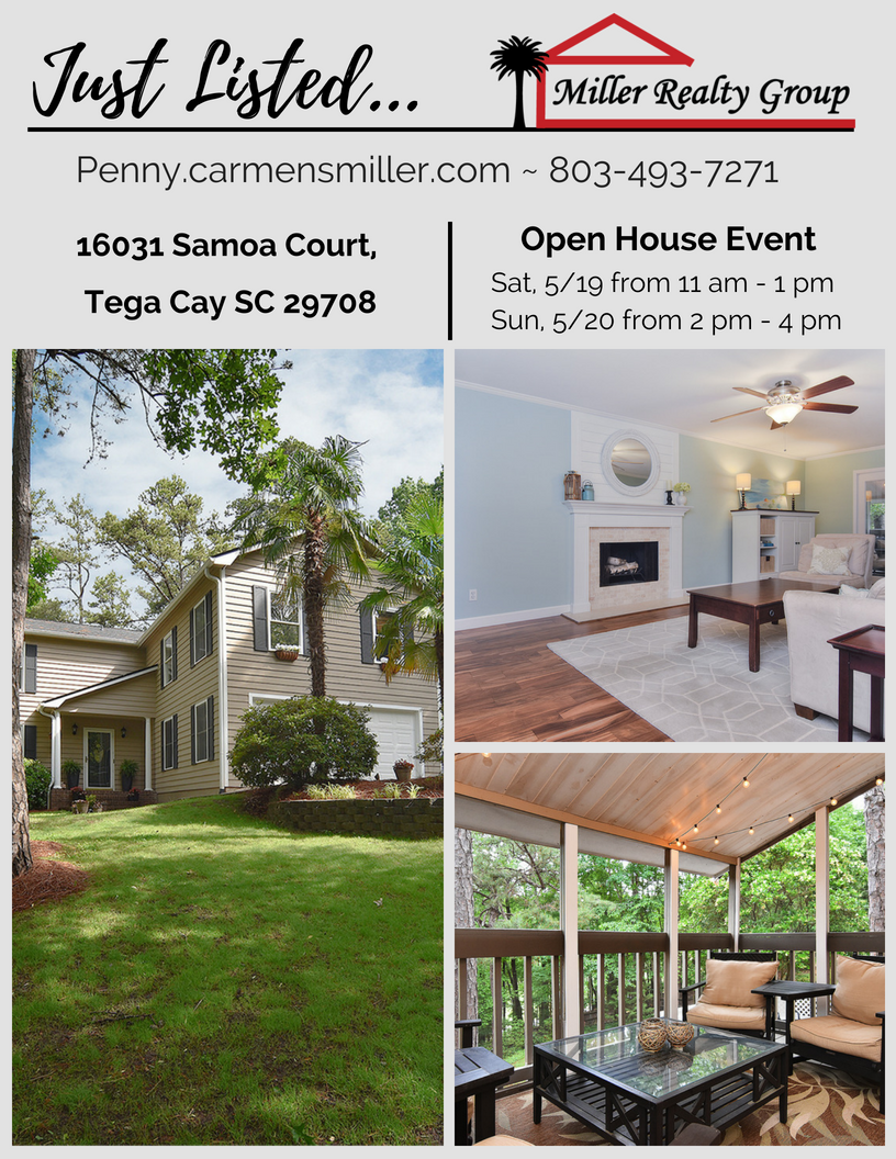 Just Listed ~ 16031 Samoa Court, Tega Cay SC 29708 ~ Open House Sat/Sun!