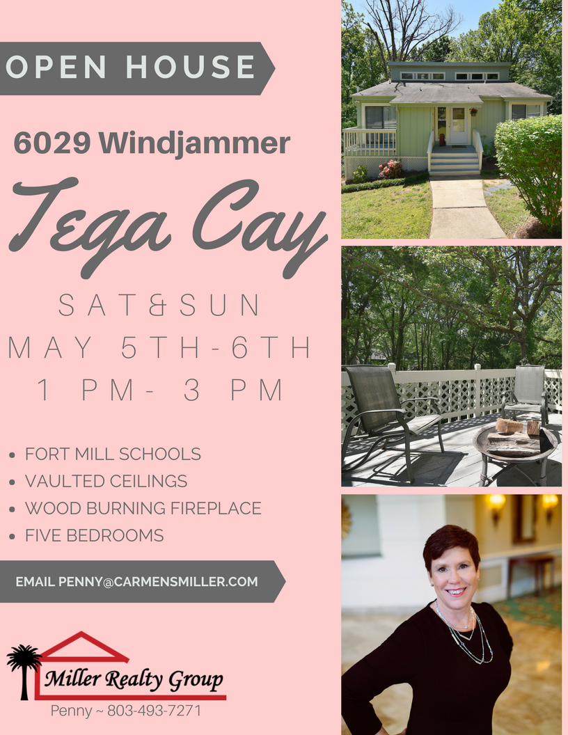 6029 Windjammer, Tega Cay Just hit the market and we're having and Open House Sat-Sun 1PM-3PM