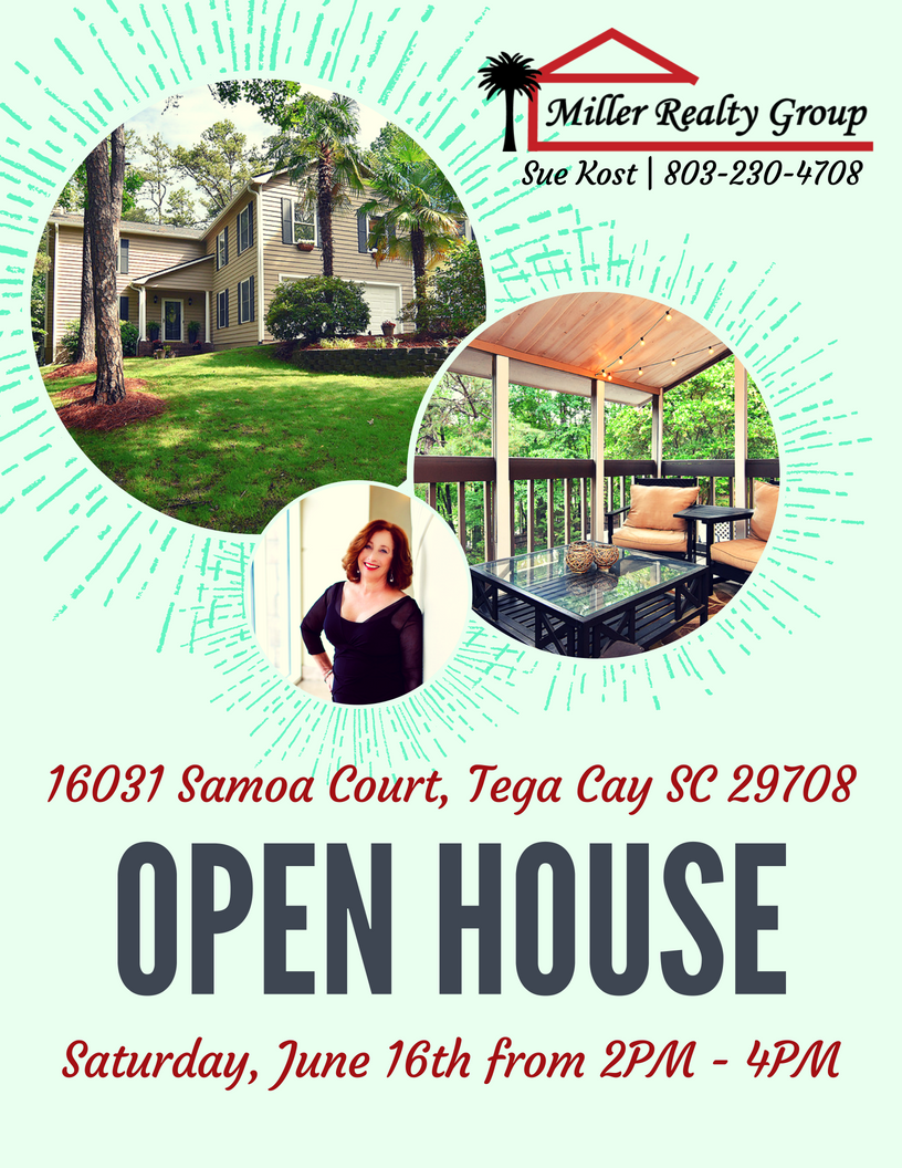 16031 Samoa Court, Tega Cay SC 29708 ~ Open House ~ Saturday, June 16th From 2PM – 4PM