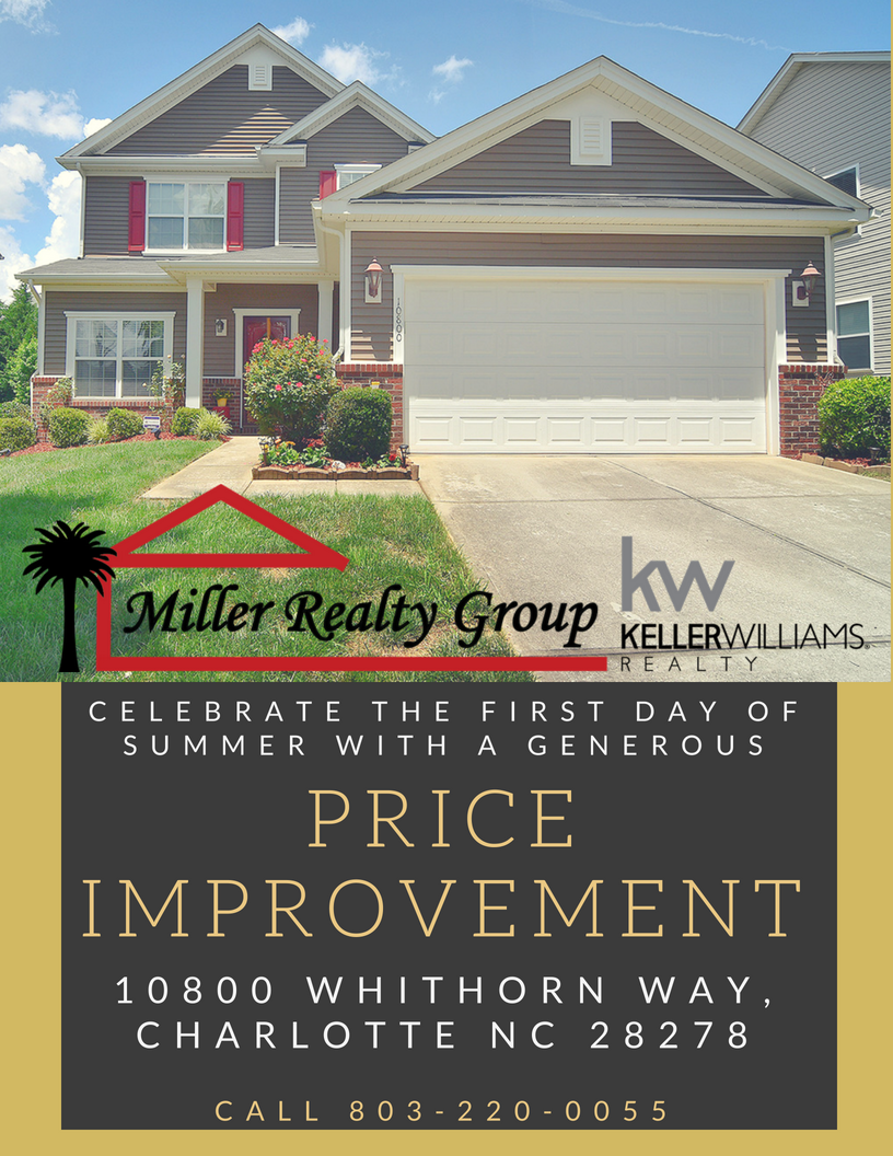 PRICE IMPROVEMENT ~ 10800 Whithorn Way, Charlotte NC 28278