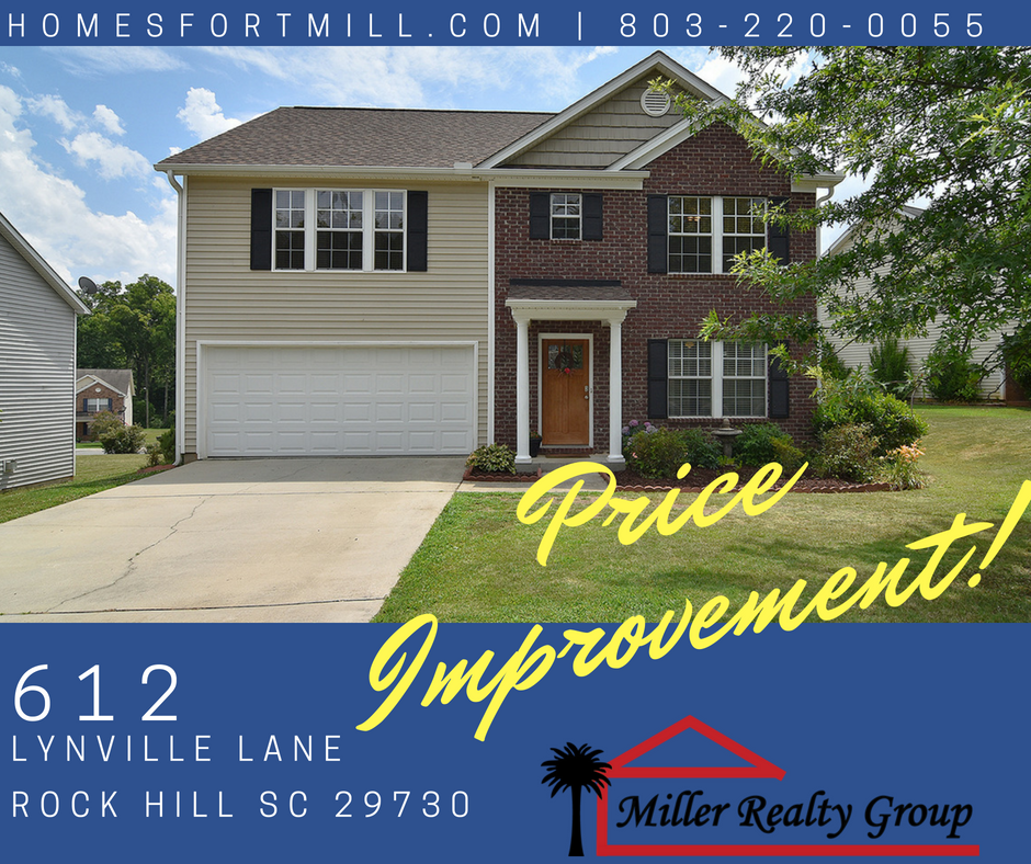 Price Improvement at 612 Lynville Lane, Rock Hill SC 29730