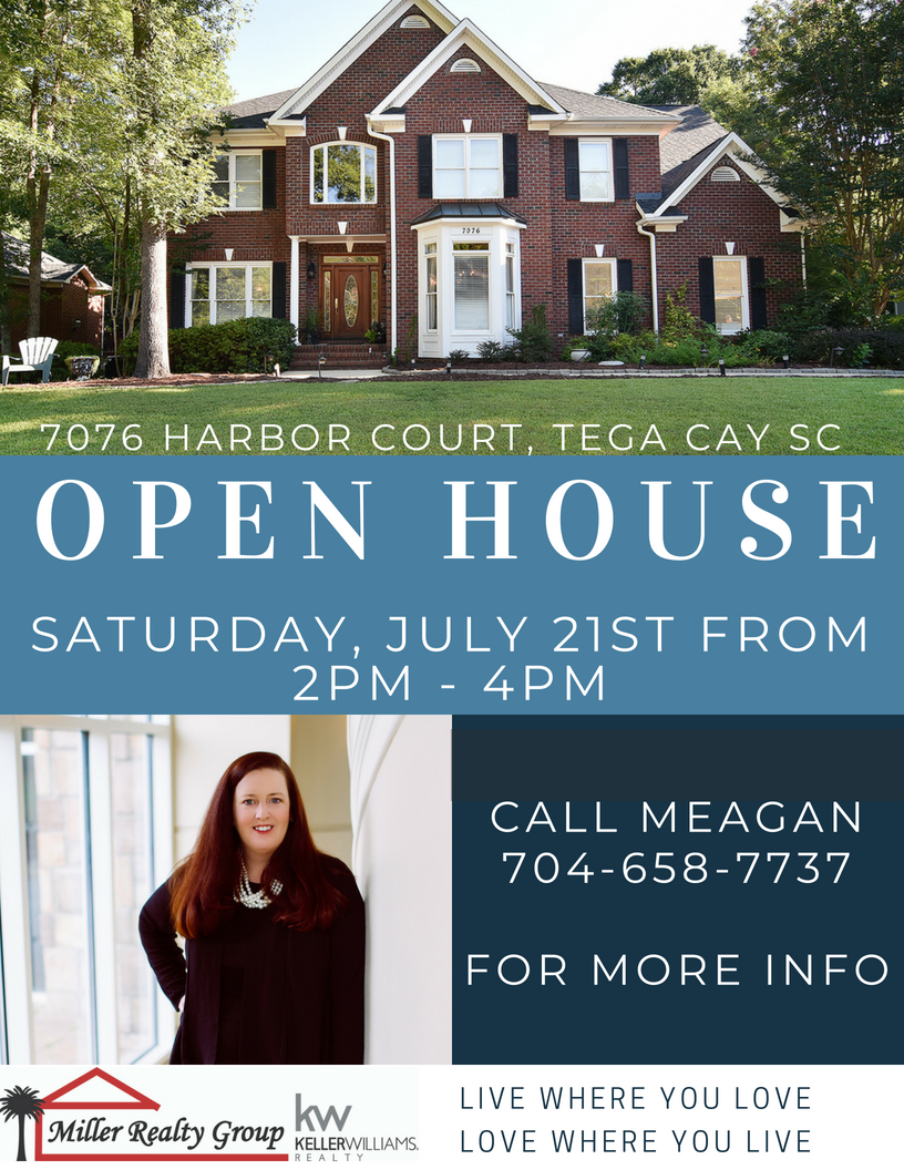 Open House at 7076 Harbor Court, Tega Cay SC 29708 This Saturday, July 21, From 2pm-4pm