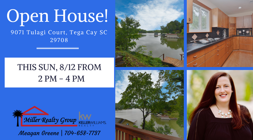 Open House at 9071 Tulagi Court, Tega Cay SC 29708 This Sunday from 2-4