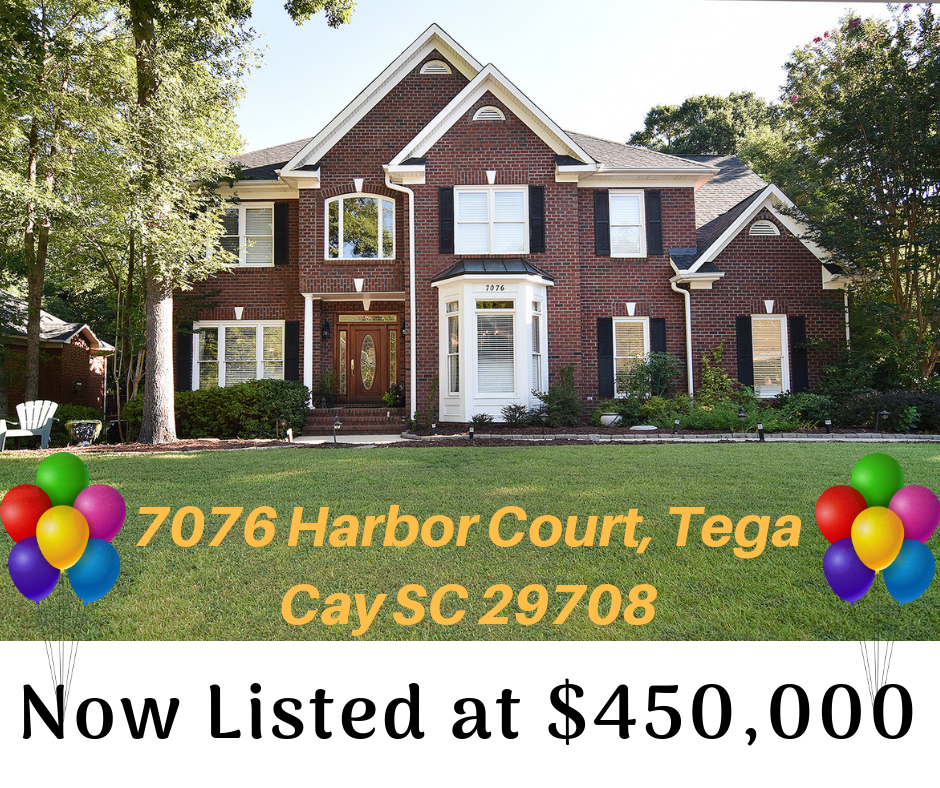 Price Improvement ~ 7076 Harbor Court, Tega Cay SC 29708 ~ Open Sunday, 9/23 2 pm – 4 pm
