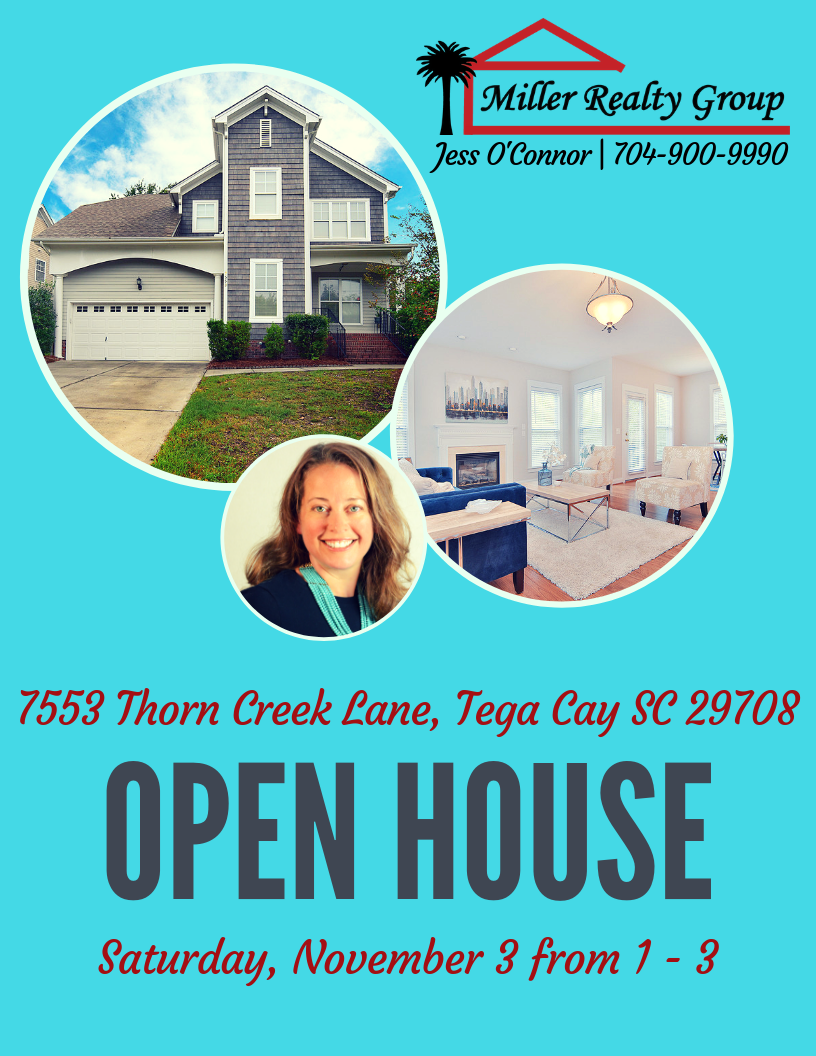 Open House ~ Saturday, Nov 3 from 1-3 at 7553 Thorn Creek