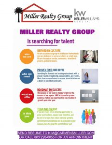 Miller Realty Group is Hiring Real Estate Agents